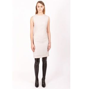 Peter Hidalgo Sheath Dress 8 Sleeveless Beige Tan